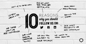 10 reasons to follow us