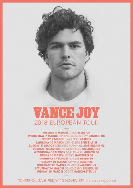Vance joy tour dates in Brisbane