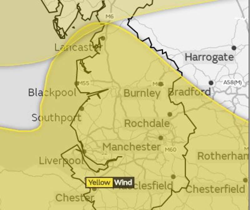 Met Office issues yellow weather warning over 'danger to life'