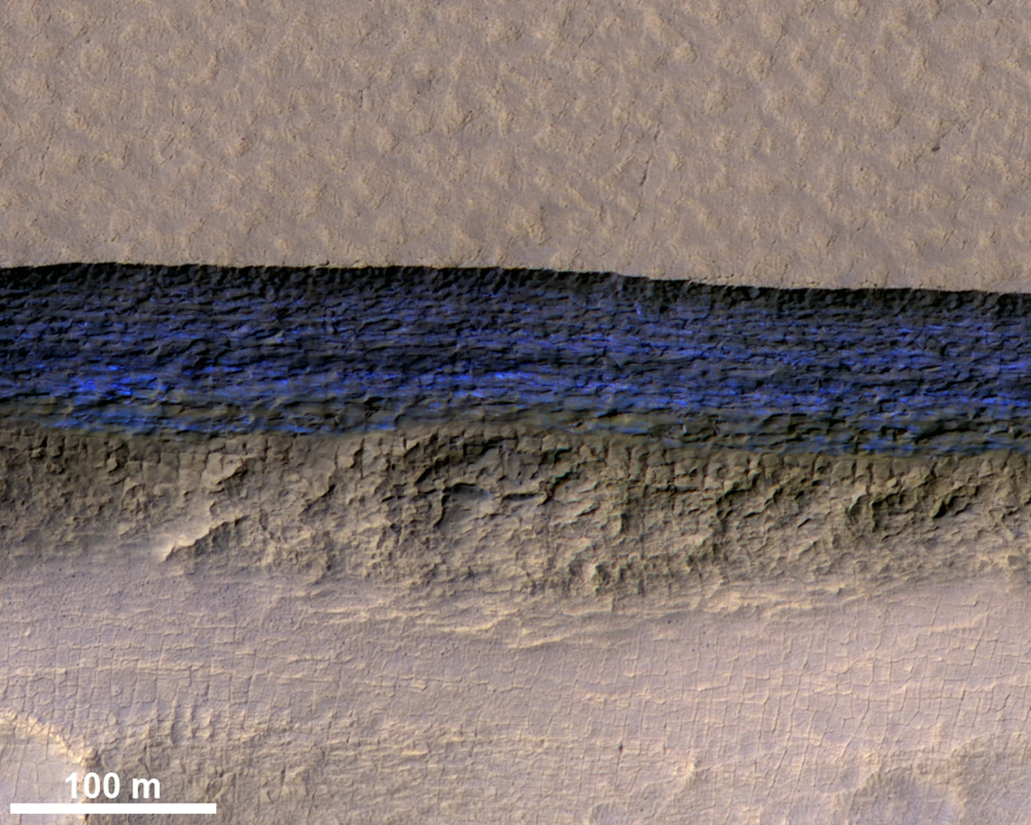 Massive Subsurface Ice Sheets Could Support Life on Mars