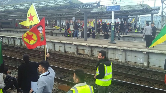 Manchester Piccadilly Station Closed As Protestors Storm Tracks