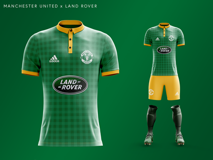 Manchester United's car manufacturer kit with Land Rover