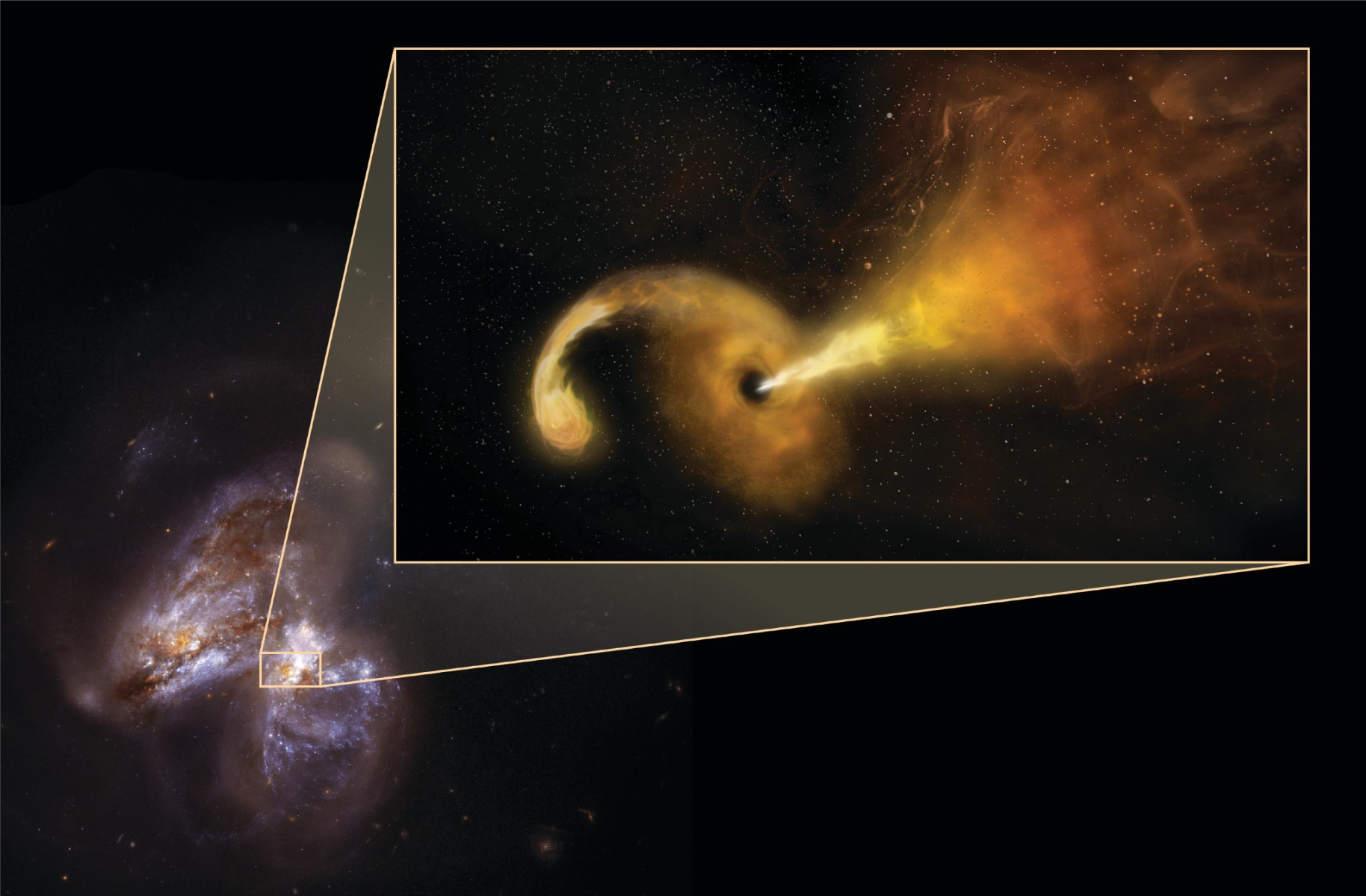 Astronomers watch a black hole eating a star